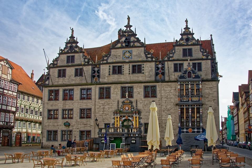 Germany, Hannoversch-münden, Marketplace, Town Hall
