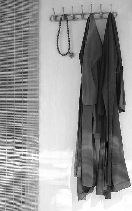 Shirt, Monks, Bonze, Blinds Door, Sour, Hanoi, Vietnam
