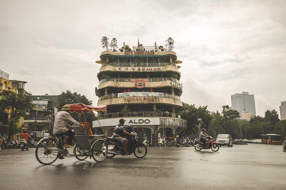 Street, Hanoi, Vietnam, Asia, City, Asian, Building