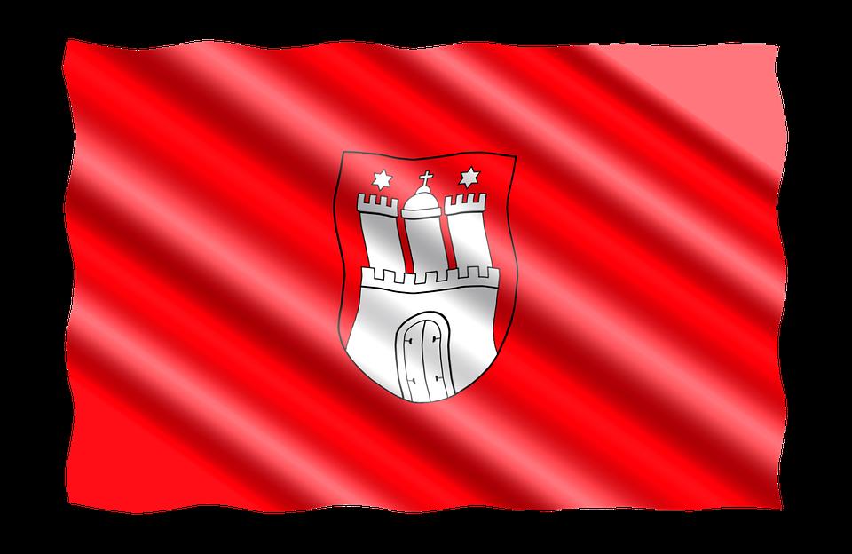 Germany, Flag, Regions, Hanseatic City Of Hamburg