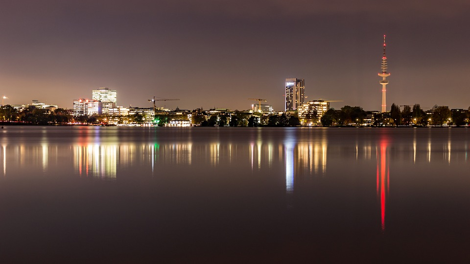 Alster, Channels, Water, Panorama, Hanseatic