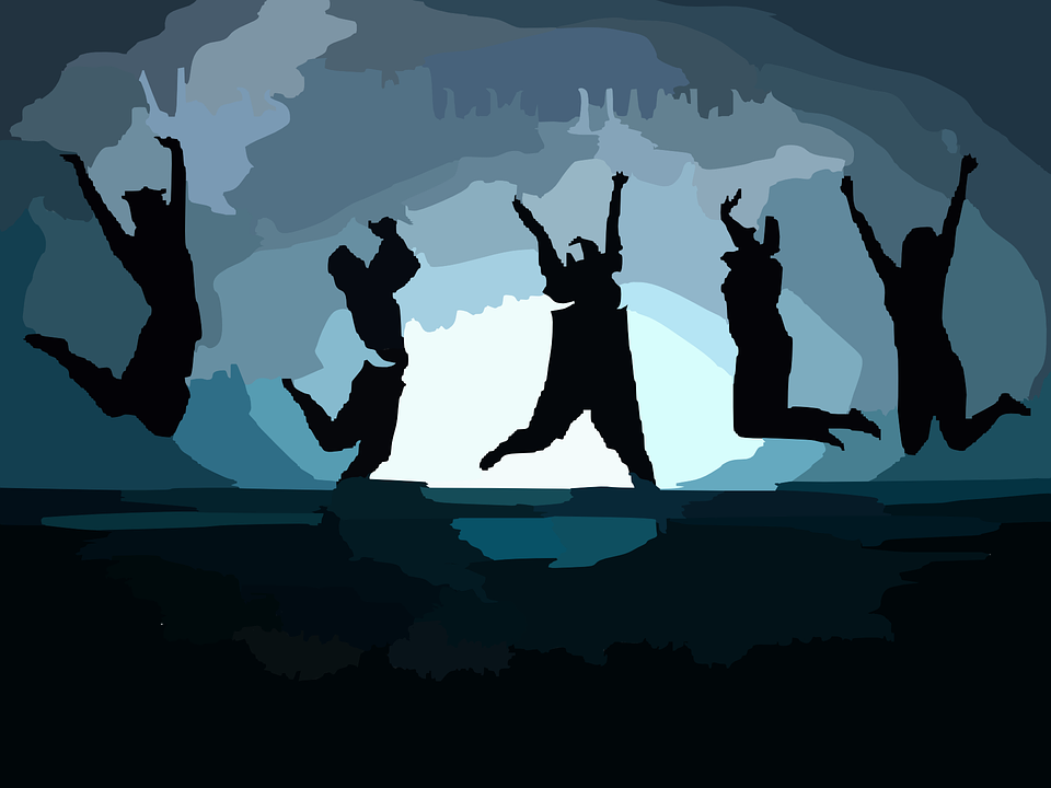 Jumping, People, Joy, Abandon, Happy, Happiness