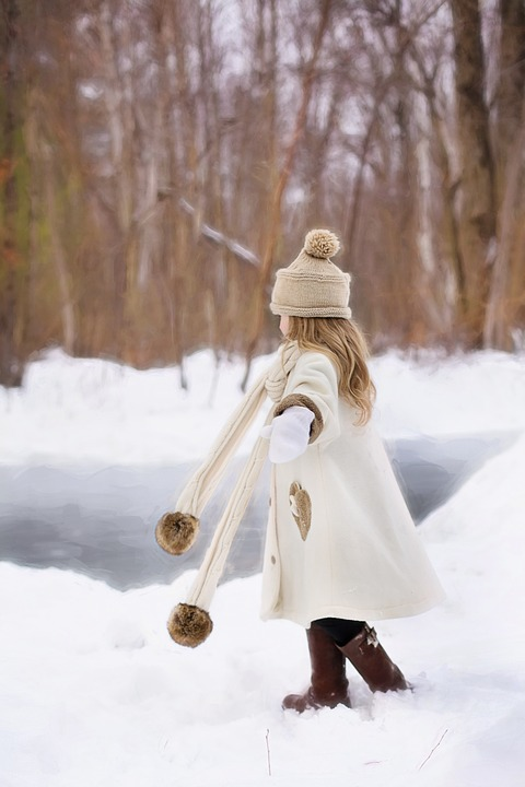 Little Girl, Winter, Snow, Happiness, Fun, Outdoor