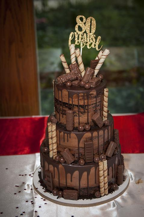 Happy Birthday Cake Celebration Chocolate Party 80