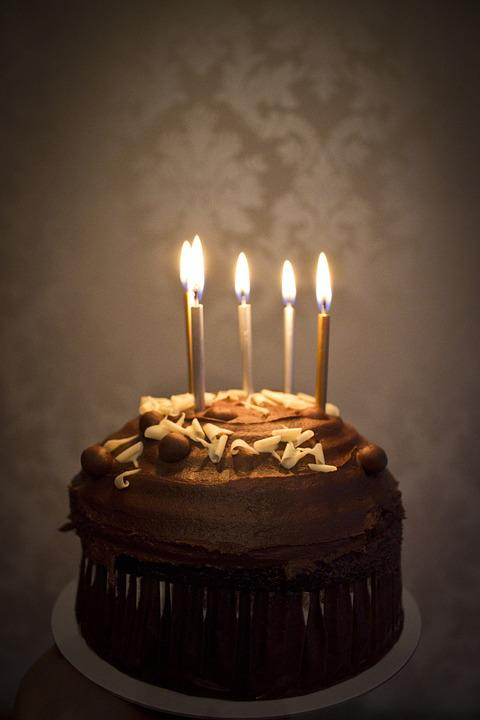 Free photo Happy Birthday Chocolate Cake Candles Celebration Max Pixel