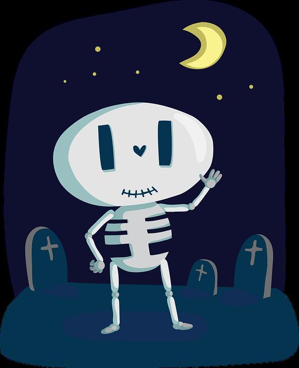 Skeleton, Cute, Bone, Halloween, Happy, Holiday
