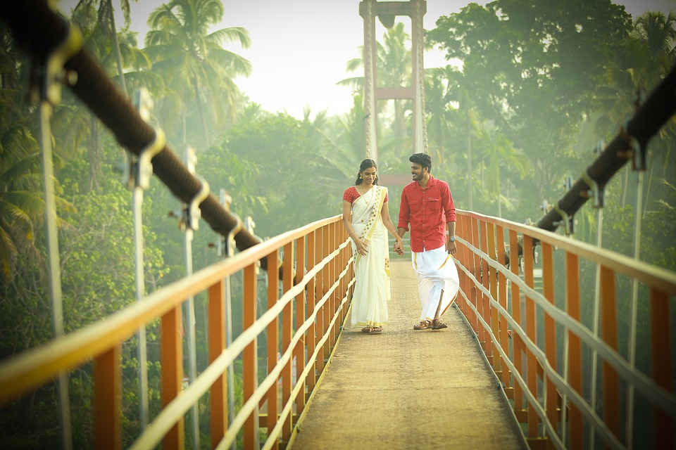 Couple, Indian, Bridge, Traditional Clothes, Happy