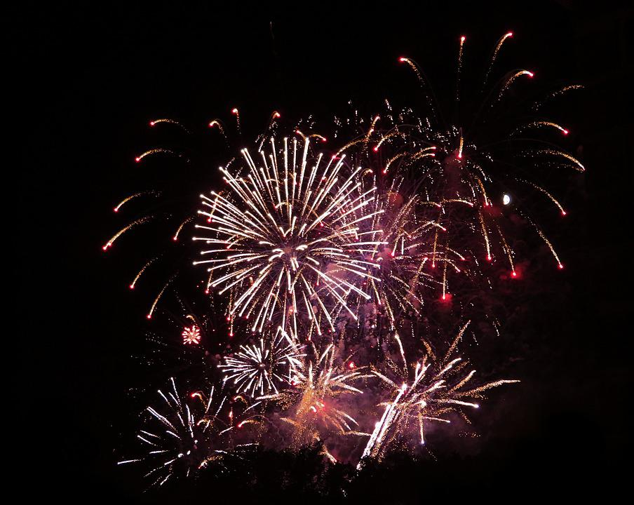 Fireworks, Celebration, Canada Day, Holiday, Happy
