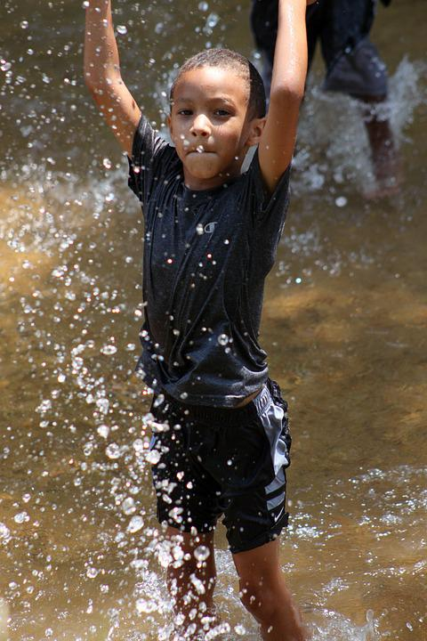 Boy, Happy, Young, Playing, Water, Summer, Fun