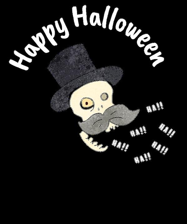 Happy Halloween, Halloween, Greeting Card, Skull
