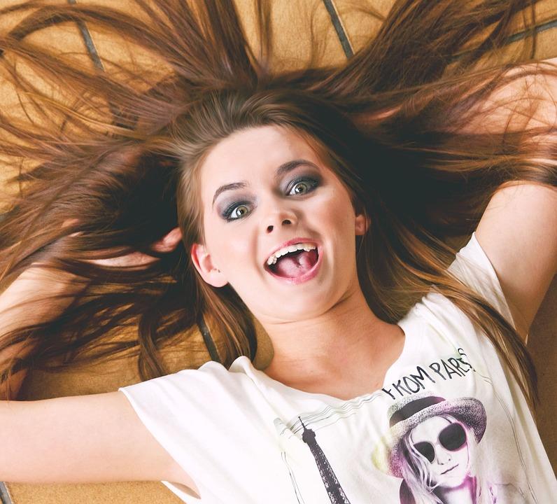 Girl, Happy Girl, Happiness, Cute Girl, Woman, Happy
