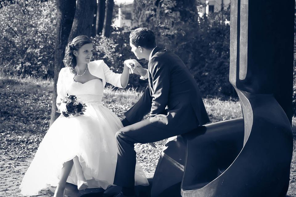 Wedding, Pair, Bride, Groom, Human, Happy, Marry