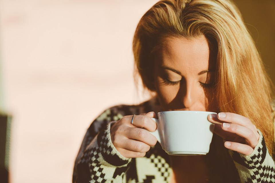 Woman, Drinking, Coffee, Person, Lifestyle, Happy