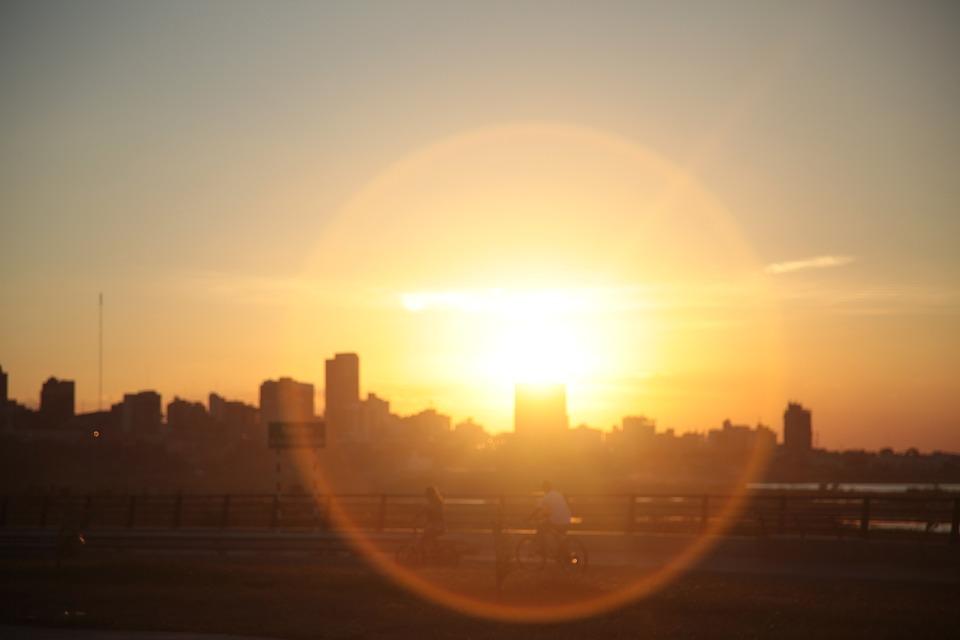 Sun, Contrazluz, Silhouette, Walk, Atrade, Happy