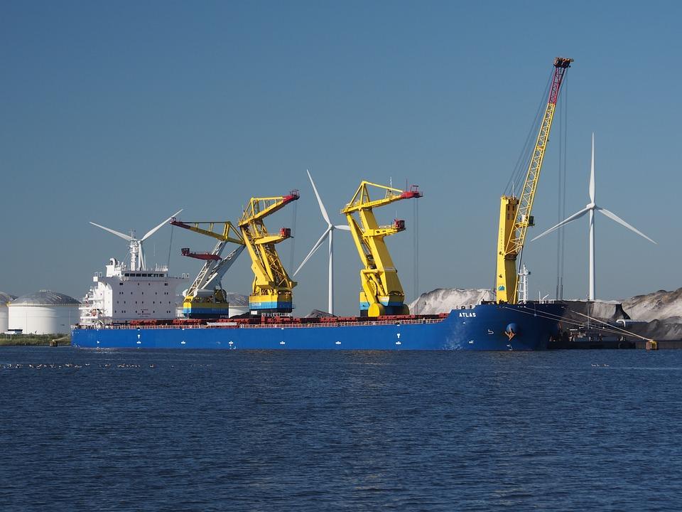 Atlas, Harbor, Amsterdam, Ship, Vessel, Logistics