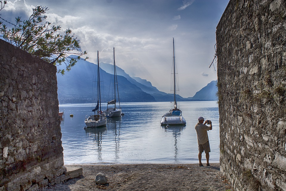 Harbour, Boat, Bay, Harbor, Yacht, Mountains, Tourist