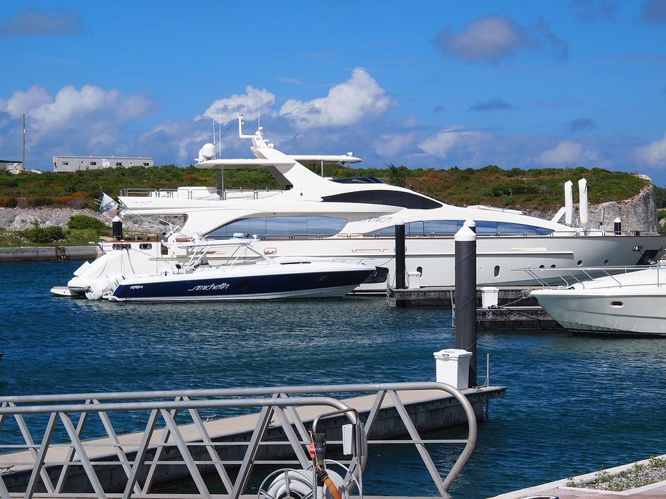 Yacht, Beach, Bahamas, Ocean, Harbor