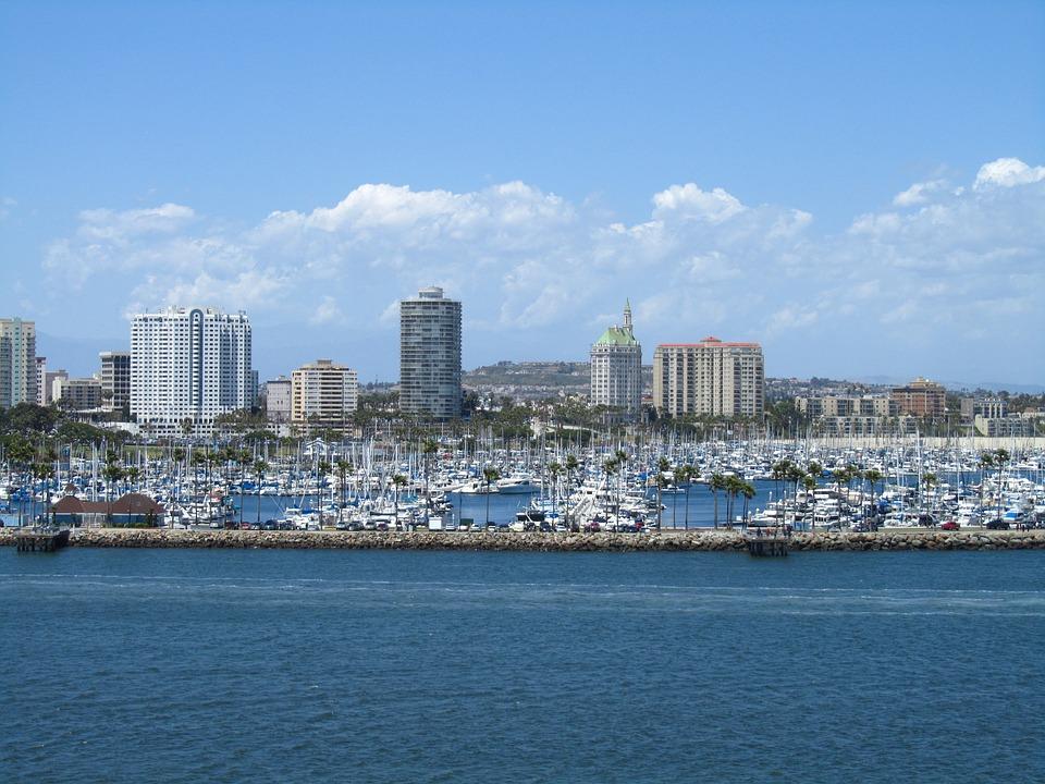 Harbor, Long Beach, Boats, Ocean, Water, Sky, Sea