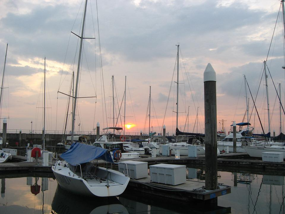 Boats, Yacht, Sailboat, Harbor, Port, Sunset, Evening