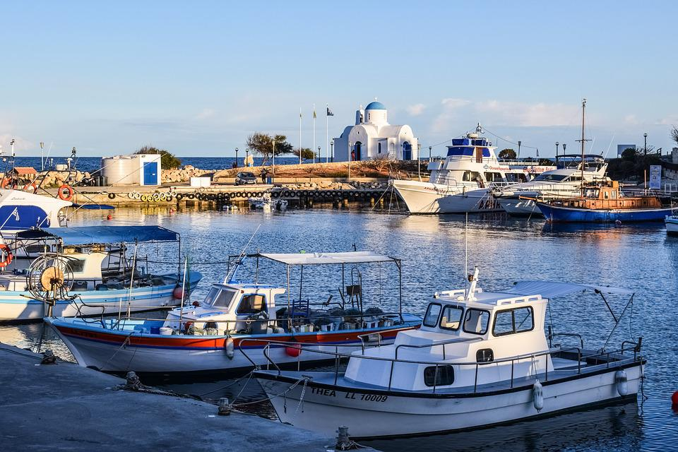 Cyprus, Protaras, Harbor, Island, Fishing Shelter