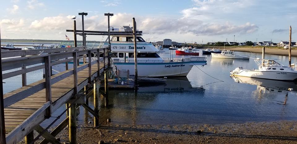 Harbor, Boat, Dock, Water, New England