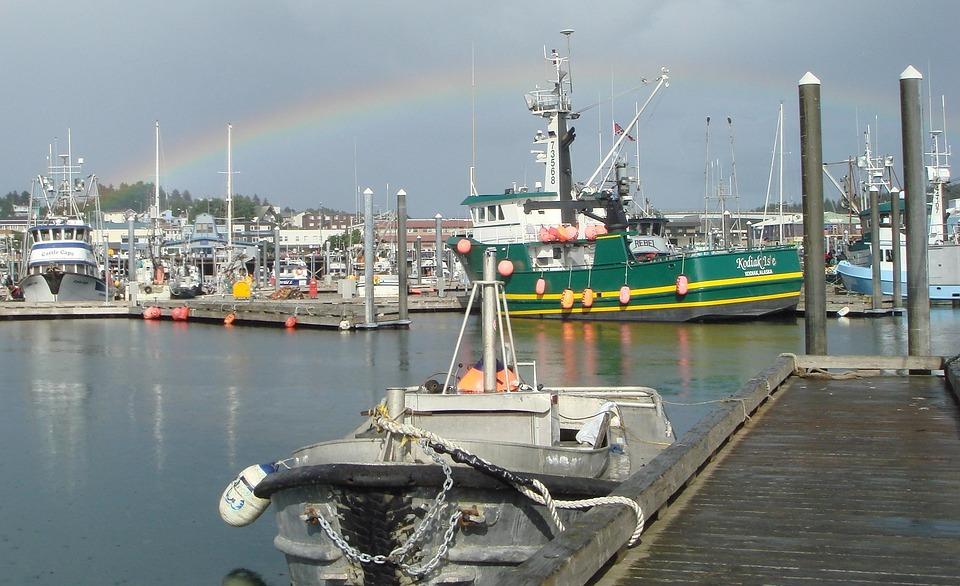 Kodiak, Alaska, Harbor, Bay, Water, Reflections, Scenic