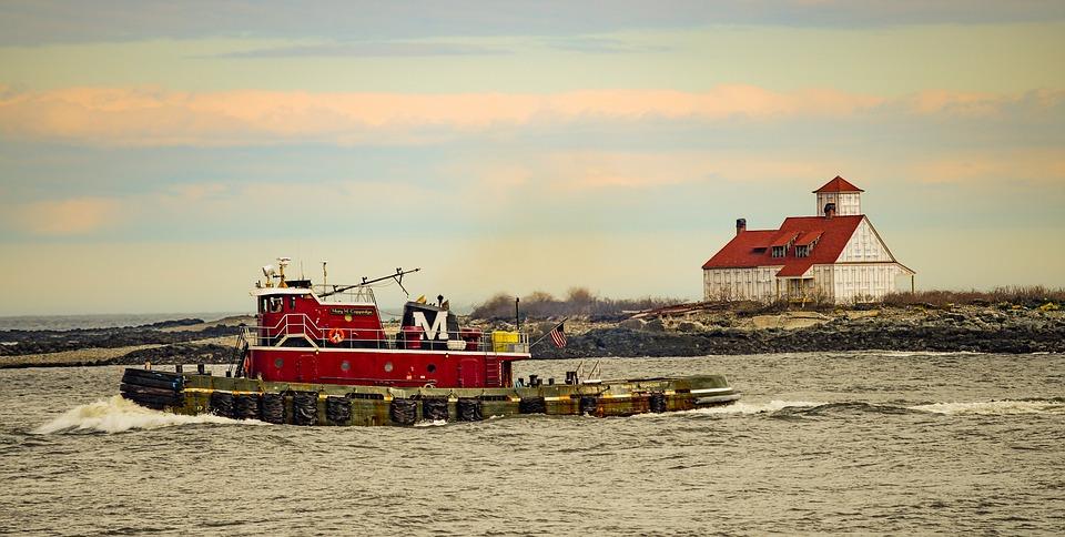 Tugboat, Portsmouth Nh, New England, Harbor, Marine