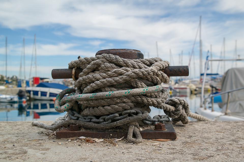 Moorings, Port, Ship, Boat, Harbor, Mooring, Rope