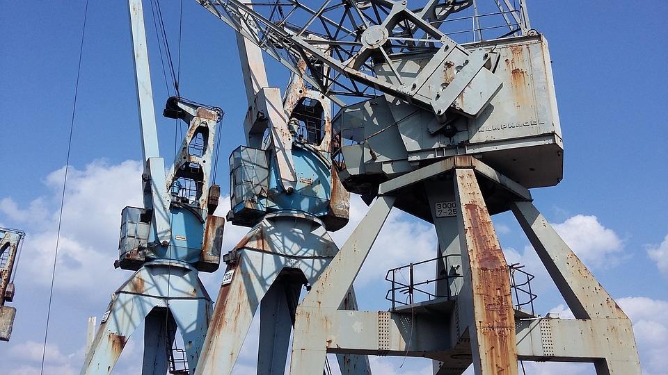 Cranes, Harbour Cranes, Museum, Harbour Crane, Hamburg