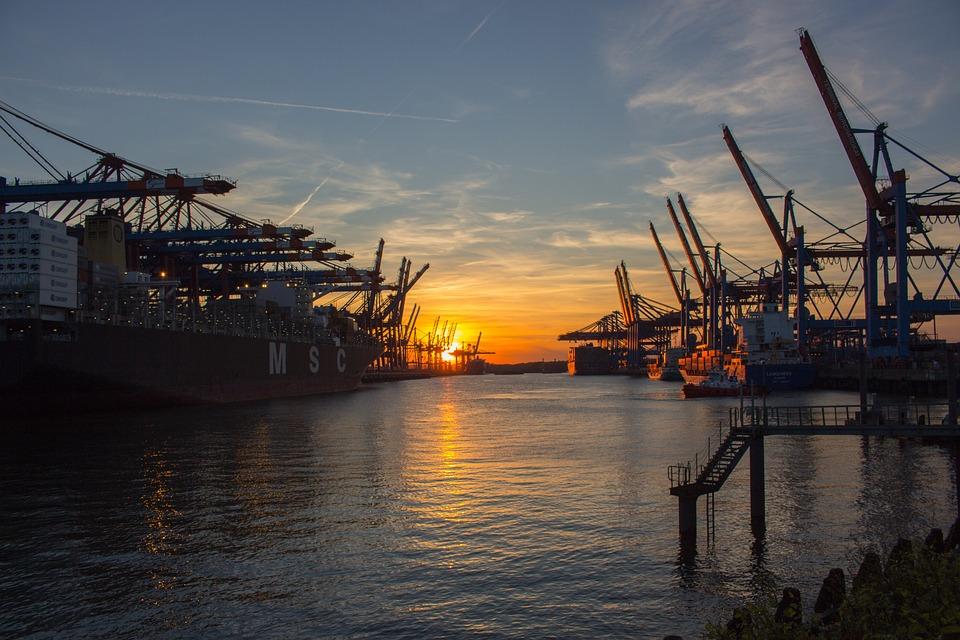 Hamburg, Port, Hamburg Port, Harbour Cranes, Ships
