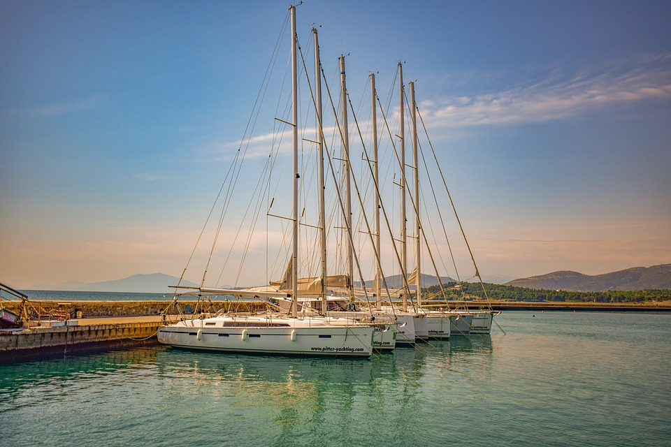 Sailboat, Yacht, Port, Harbour, Sea, Dock, Town