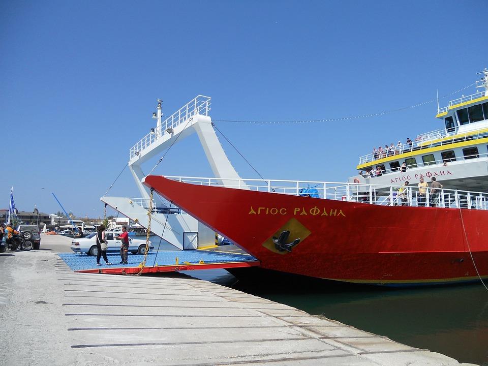 Greece, Greek Ferry, Harbour, Ship, Port, Ferry