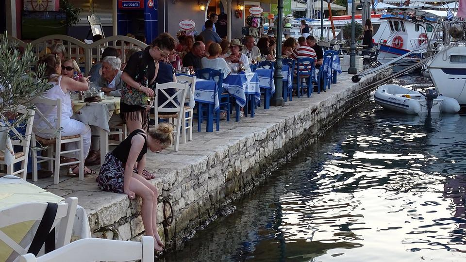 Greece, Kefalonia, Fiscardo, Harbor, Pier, Harbour