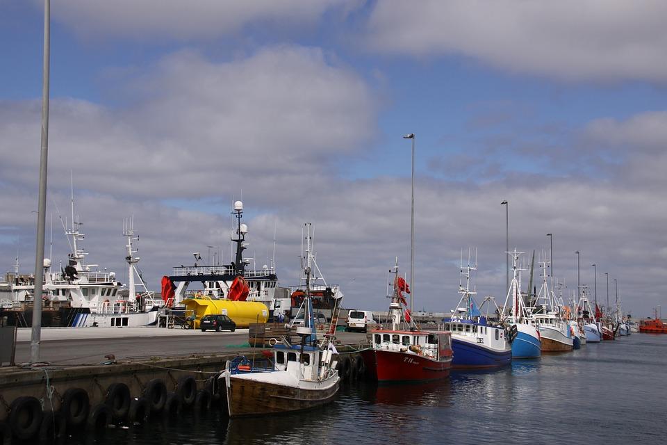 Hanstholm, Harbour, Jutland, Denmark, Fishery, Boats