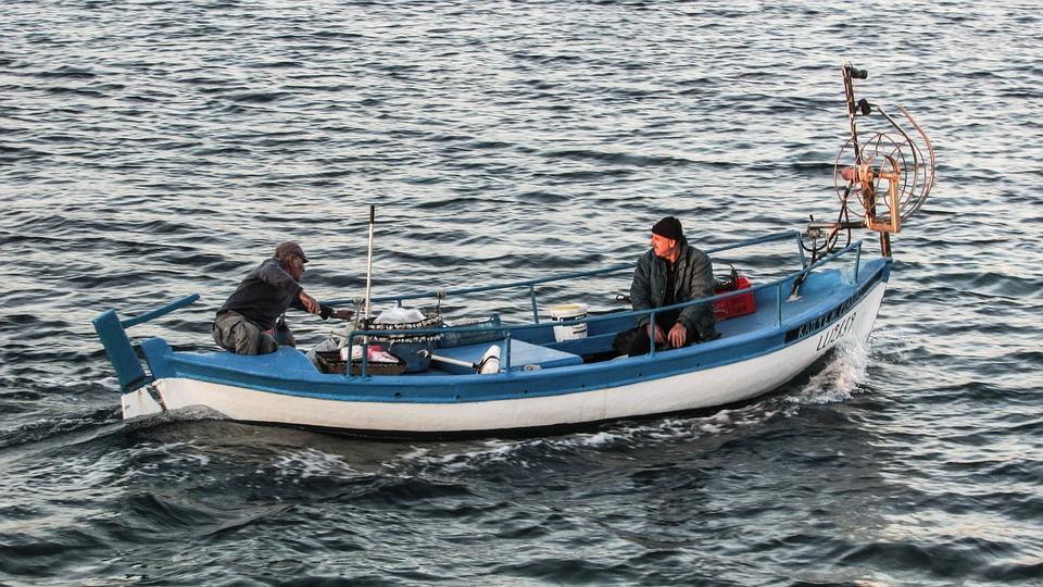 Cyprus, Ayia Napa, Harbour, Fishing Boat, Fishermen