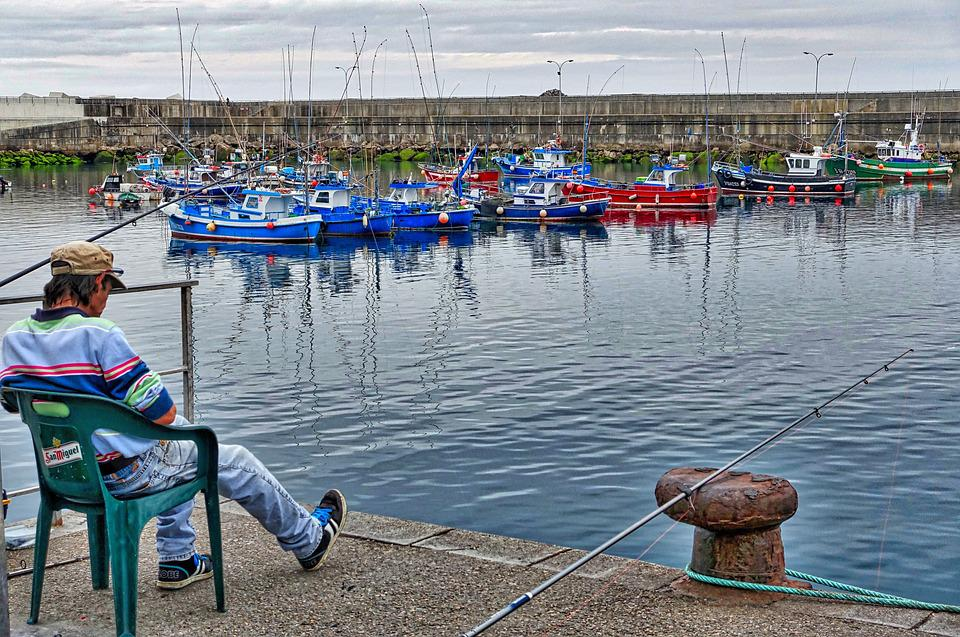 Fisherman, Harbour, Boats, Nautical, Colorful, Marina