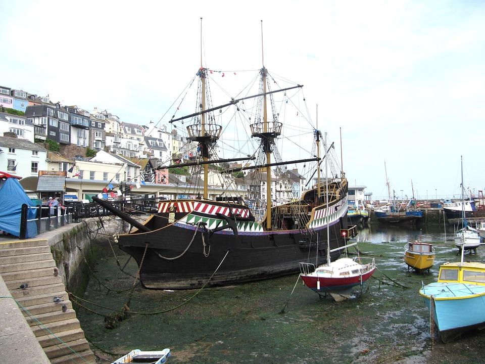 Brixham, Devon, Boats, Seaside, Harbour