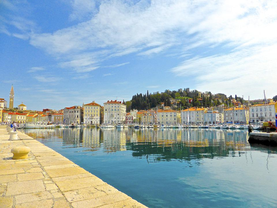 Reflection, Harbour, Mediterranean, Seaside, Seascape