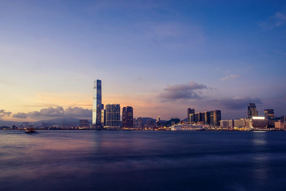 Skyline, Victoria Harbour, Hong Kong, Harbour