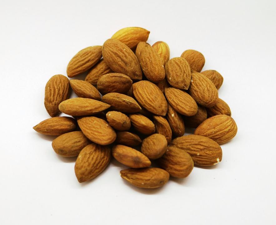 Almonds, Nuts, Food, Natural, Brown, Hard