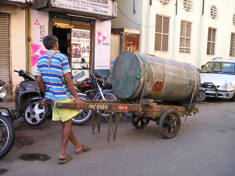 Work, Hard, Transport, India, Mumbai, Bombay