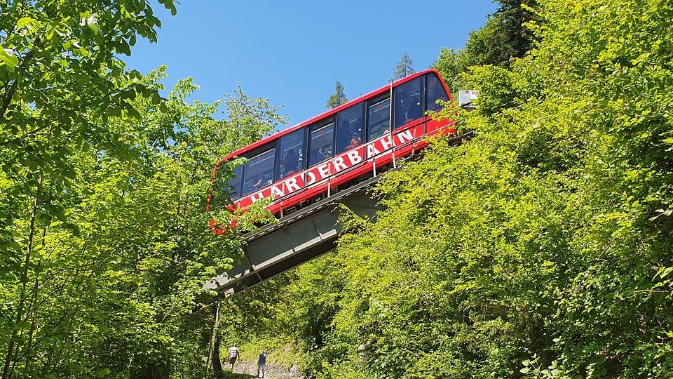 Interlaken, Harder, Hard Track, Lake Brienz, Mountains