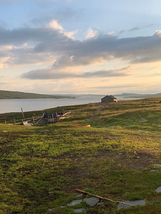 Lake, Mountain, Norway, Hardangervidda, Nature, Sky