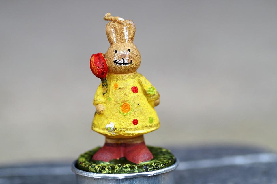 Bunny Girl, Female Hares, Figurine, Hare, Easter