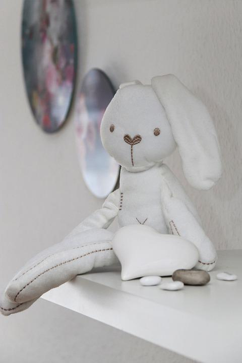 Stuffed Animal, Bunny, Toy, Plushie, Hare, Rabbit