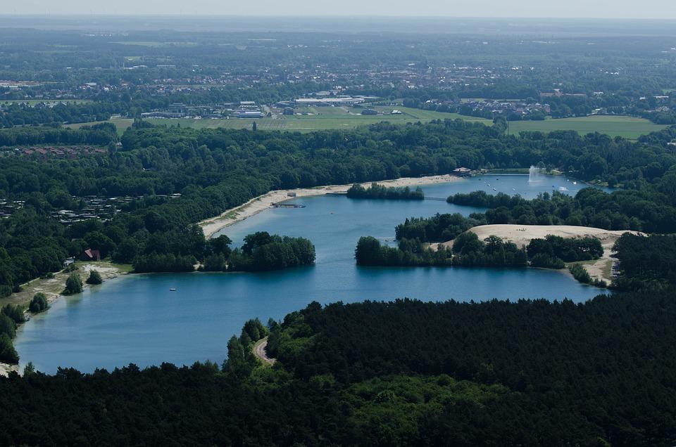 Dankernsee, Aerial View, Haren, Dankern, Dankern Lake