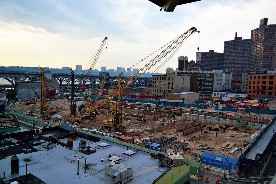 Construction Site, Harlem, New York, Uptown