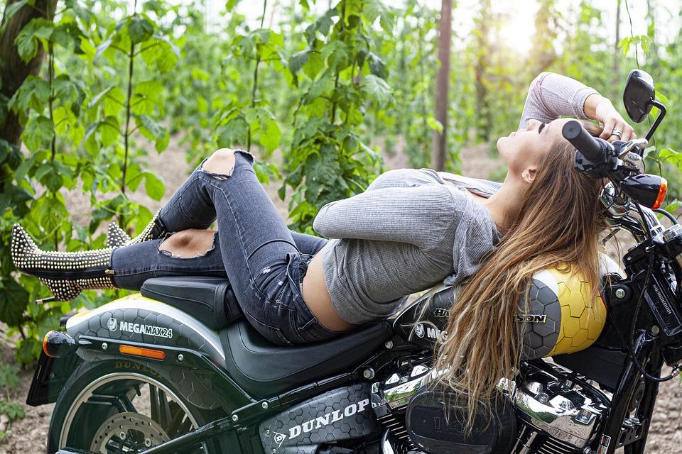 Motorcycle, Girl, Lady, Woman, Motorcycles, Harley