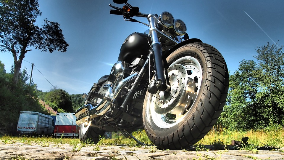Harley, Fat Bob, Summer, Sky