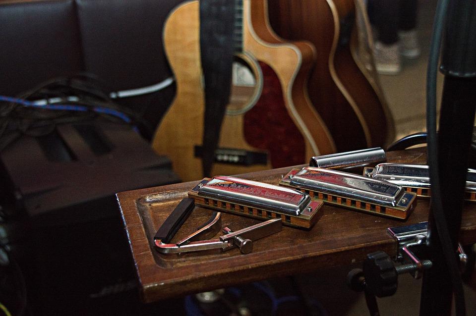 Music, Harmonica, Blues, Musical Instrument